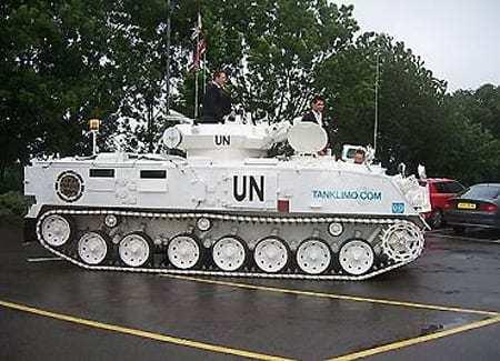 Tank Limousine for UN VIP's